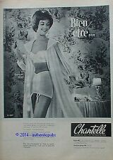 PUBLICITE CHANTELLE GAINE 667 SOUTIEN GORGE 102 DE 1960 FRENCH AD VINTAGE PIN UP