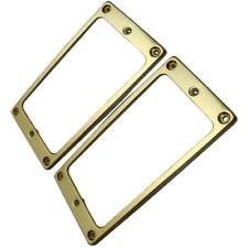 2 Set Guitar Humbucker Pickup Ring Flat Bottom for Guitar Replacment Slanted