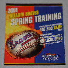 Atlanta Braves 2001 Spring Training Pocket Schedule (Disney's Wide World Sports)