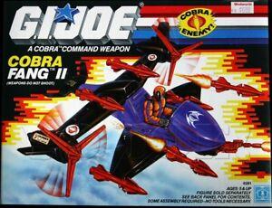 G I JOE - ARAH The Cobra FANG II 1989 Missiles Engine Turrent Gun Wings Parts