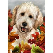 Fall House Flag - White Goldendoodle 13271