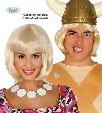 Parrucca Caschetto Biondo con Frangia Donna Carnevale Halloween Teatro Cosplay