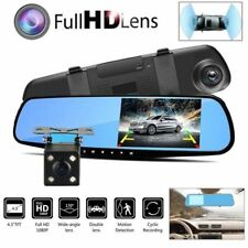 AU 4.3'' 1080P Dual Lens Car DVR Mirror Dash Cam Reversing Camera Video Recorder