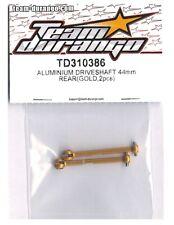 RC Team Durango TD310386 Drive Shaft Rear Aluminum 44mm Gold DETC410 v2 1/10 NIB