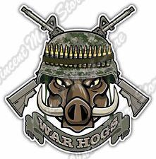 "War Hogs Boar Pig Army Military Machine Gun Car Bumper Vinyl Sticker Decal 4""X5"""