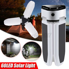 60 LED Solar Power Fan Light Waterproof Lamps Foldable Lights Outdoor Lantern AU