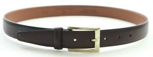 Brooks Brothers Leather Square Buckle Gold/Silver-Tone  Dress Belt  Black Brown