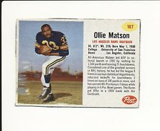 1962 POST CEREAL HAND CUT #167 OLLIE MATSON