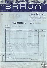 Publicité ancienne _ Braun Facture pour Commande Novalux 322 année 1940