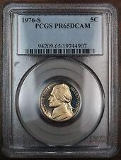 1976-S Proof Jefferson Nickel Coin, PCGS PR-65 DCAM