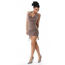 SEXY abito vestito STRASS cappuccino taglia S (40) M (42) fashion GLAMOUR  !