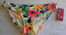 Bikini Lab Womens Swimsuit Smock Side Hipster Bikini Bottom Floral Large NWT $36