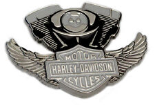 Harley-Davidson Forty-Eight American Bike Card and Winged Engine B&S Pin Set