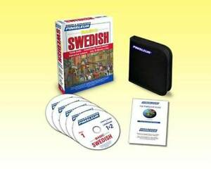 NEW 5 CD Pimsleur Learn to Speak Basic  Swedish Language