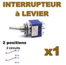 936/1# Interrupteur à levier 2 positions 2 contacts 1pc