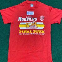 1987 INDIANA UNIVERSITY IU HOOSIERS CHAMPION NCAA Shirt Sz S Vintage Final Four