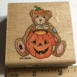 Cherished Teddies Jack-o-Lantern Bear Halloween Stampendous Rubber Stamp