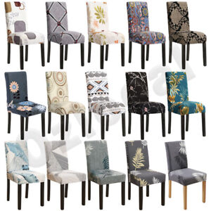 1-8PCS Dining Chair Covers Slipcover Stretch Spandex Protector Washable Banquet