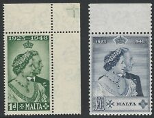 Malta, Scott# 223-4, Mint Never Hinged, 1949 Silver Wedding