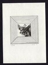 39)Nr.068-EXLIBRIS- Lubica Koncerkova-Vesela, signiert, C2 - Kupferstich