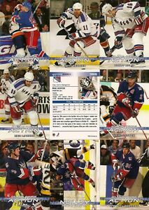 2003-04 ITG In The Game Action New York Rangers Complete Team Set (20)