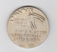 Vintage 1971 NASA SPACE coin Apollo 15 ITALY