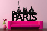 Wall Decal Sticker bedroom Paris city skyline buildings France beautiful bo2753