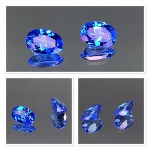 Vivid  Blue Topaz X2 Oval Cut 1.10 Carat Jewellery Set Absolutely gorgeous