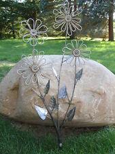 Garden Art Handmade Rust FLOWERS Decore Ornament Welded Steel Sculpture Deck
