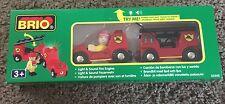 33542 BRIO Wooden Train Lights & Sound Fire Engine! New! Thomas
