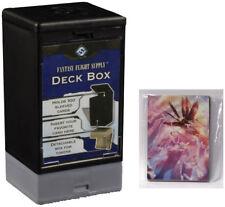 Customizable Deck Box with Deck Backer Multi-Pack - Black Fantasy Flight NEW