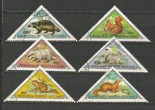Mongolie 1973 faune animaux sauvages 6 timbres oblitérés /T5461