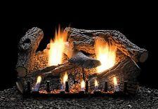 "30"" Empire Gas Logs, Ventfree, Sloped Glazed Burner, Free Thermostat Remote"