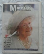 Sunday mirror Queen mother death 31st march 2002. 96 page tribute.