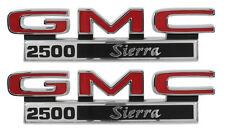 1971-1972 GMC Pick Up Truck Front Fender Emblem 2500 Sierra Pair