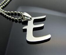 Woman's Men's Silver 316L Stainless Steel Pendant Necklace 26pcs LETTERS Pick