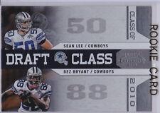 DEZ BRYANT & SEAN LEE Dual COWBOYS ROOKIE CARD 2010 Contenders Draft Class RC!
