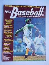 1972 STREET AND SMITH'S OFFICIAL BASEBALL YEARBOOK - Vida Blue Oakland A's - NM