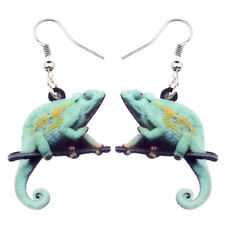 Acrylic Chameleon Lizard Earring Drop Dangle Animal Jewelry For Women Gift Charm