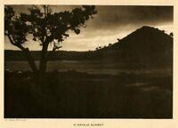 THE VANISHING RACE - A SOUTHWEST SUNSET - GENUINE  -   PHOTOGRAVURE 83