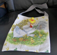 Handmade Bag For A Girl  Multicolor Purse Cotton Special Gift Duck Doll 11x11 in