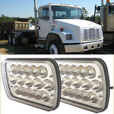 Pair LED Headlights Hi/Lo Sealed Beam with DRL fit for Freightliner FL 80 Truck