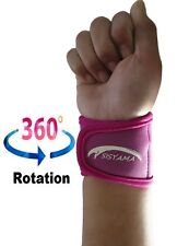 Small Petite Youth PINK Neoprene Wrist Support Bands Wrap Yoga Tennis Golf