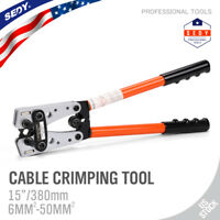Large Wire Terminal Crimping Tool 6-50mm² Cable Lug Crimper Cu/Al Terminal Plier