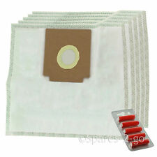 Cloth Hoover Bags for ELECTROLUX Z2100 ZANUSSI ZAN3002 Vacuum x 5 + Fresheners