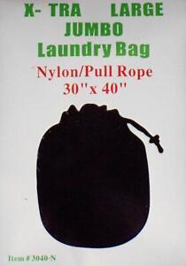 """Black 30"""" by 40"""" X-TRA Jumbo Laundry Bag Heavy Duty Drawstring Nylon"""
