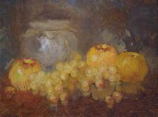 Still Life Oil Painting, Handmade Original Artwork, Post Impressionism, Tonalism