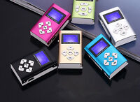 REPRODUCTOR LECTOR MP3 PLAYER ALUMINIO MINI USB MICRO SD 8GB CASCOS LCD Screen