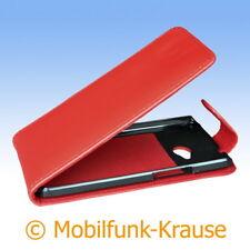 Flip Case Etui Handytasche Tasche Hülle f. HTC One (M7) (Rot)
