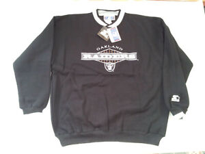 VINTAGE NWT STARTER OAKLAND RIDERS ALL SEWN LETTERS AND LOGOS SWEATSHIRT SIZEXXL